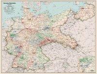 Deutsche Reichsbahn. Eisenbahn Übersichtskarte 1938